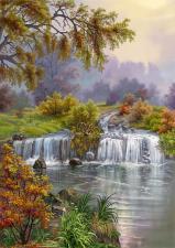 Картина по номерам Лесная река