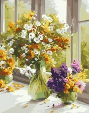 Картина по номерам 40х50. Полевые цветы