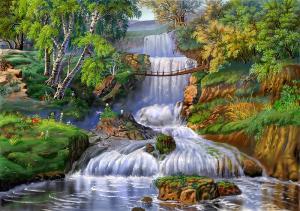 Картина по номерам Водный каскад