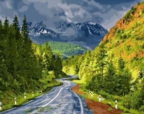Картина по номерам Дорога в горы