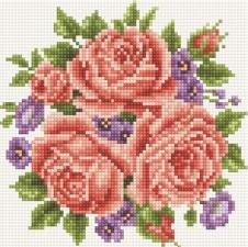 Алмазная мозаика Букет роз