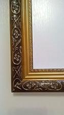 Рамка для картин 40*50 коричневая с золотом (узор №1)