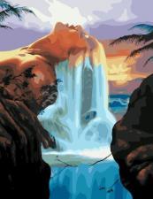 Картина по ном ерам 40*50 RDG-2813 Водопад волос
