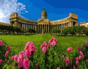 Картина по номерам 40х50 Казанский собор. Санкт-Петербург