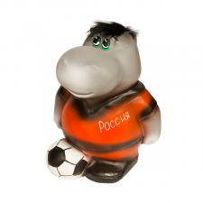 Копилка  Бегемот-футболист