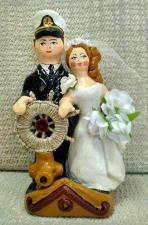"""Фигурка из глины """" Жених и невеста"""""""