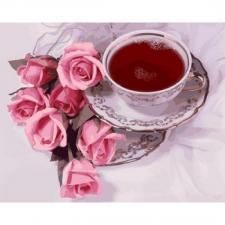 Картина по номерам 40х50 Чай с суданской розой