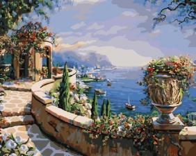 Картина по номерам 40*50. Остров Капри ( Италия)