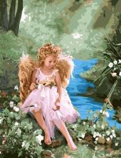 "Картина по номерам 40х50 ""Ангел у ручья"" худ. Лиза Джейн"