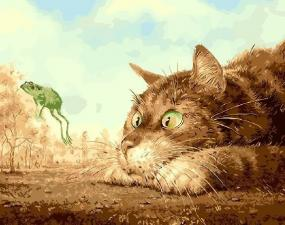 Картина по номерам 40Х50 Охота на лягушку.