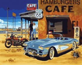 Картина по номерам 40Х50см У кофе.