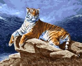 Картина по номерам 40Х50см Красавец тигр.