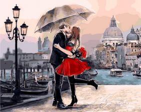 Картина по номерам 40Х50 Венецианский поцелуй.