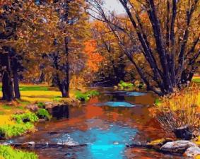 Картина по номерам Осенний ручей