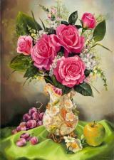 Картина по номерам Розовые розы