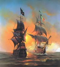 Картина по номерам Морской бой
