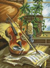 Алмазная мозаика 30Х40см  Скрипка.
