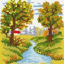 Алмазная мозаика Извилистая речка