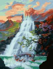 Картина по номерам 40*50 арт. СХ 22489 Водопад
