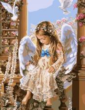 Картина по номерам 40х50 Ангел отдыхает