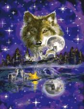 Картина по номерам 40*50 Волки арт.  GX5545
