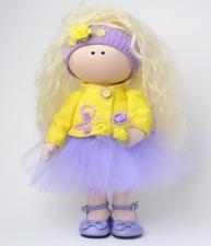 Интерьерная текстильная куколка Тоня. Рост готовой куклы -35 см