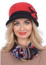 Женская шляпа Д-432/4 Красная/черная