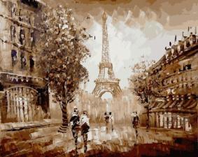 Картина по номерам 40Х50 Париж.