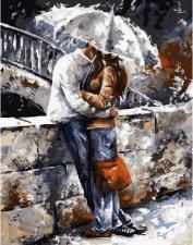 Картина по номерам 40Х50 Влюбленные под дождем.