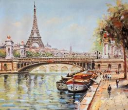 Картина по номерам 40Х50 По улочкам Парижа.