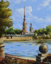 Картина по номерам 40Х50см Вид на Петропавловскую крепость.Санкт-Петербург