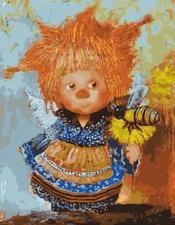Картина по номерам 40Х50см Рыжий ангел с пчелкой.