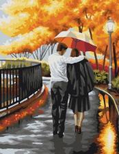 Картина по номерам 40Х50 Осенняя прогулка.