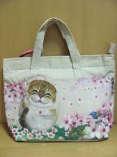 Летняя сумочка с кошкой и цветами