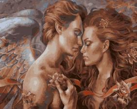Картина по номерам 40Х50 Ангелы.