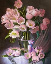 Картина по номерам 40Х50 Белые розы