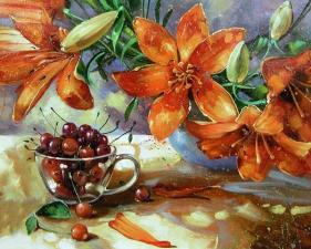 Картина 40Х50 Лилии.