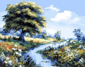Картина по номерам 40Х50 Летний пейзаж.