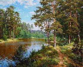 Картина по номерам 40Х50 Родная природа.