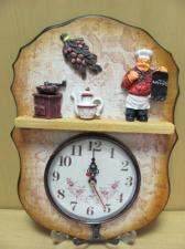 """Коллаж фигурный с часами """"Моя кухня"""" с крючком"""